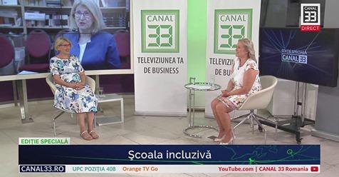 Despre Școala Incluzivă- cu Violeta Dascălu la Canal 33